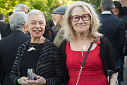 LAURA KRUGER; CYNTHIA CORBETT, Opening of Christo and Jeanne-Claude: ,Barrels and the Mastaba 1958 - 2018, London, 21 June 2018