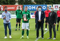 Đorđe Ivanović of Olimpija with SPINS award during football match between NK Bravo and NK Olimpija in 36th Round of Prva liga Telekom Slovenije 2020/21, on May 22, 2021 in Sportni park ZAK, Ljubljana, Slovenia. Photo by Vid Ponikvar / Sportida