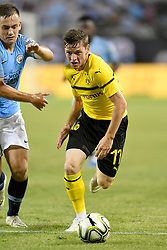 July 20, 2018 - Chicago, IL, U.S. - CHICAGO, IL - JULY 20: Borussia Dortmund midfielder Marius Wolf (17) chases a loose ball during an International Champions Cup match between Manchester City and Borussia Dortmund on July 20, 2018 at Soldier Field in Chicago, Illinois. (Photo by Robin Alam/Icon Sportswire) (Credit Image: © Robin Alam/Icon SMI via ZUMA Press)