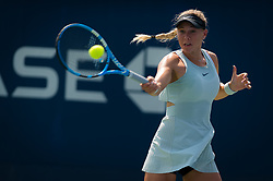 August 28, 2018 - Amanda Anisimova of the United States in action during the first round of the 2018 US Open Grand Slam tennis tournament. New York, USA. August 28th 2018. (Credit Image: © AFP7 via ZUMA Wire)