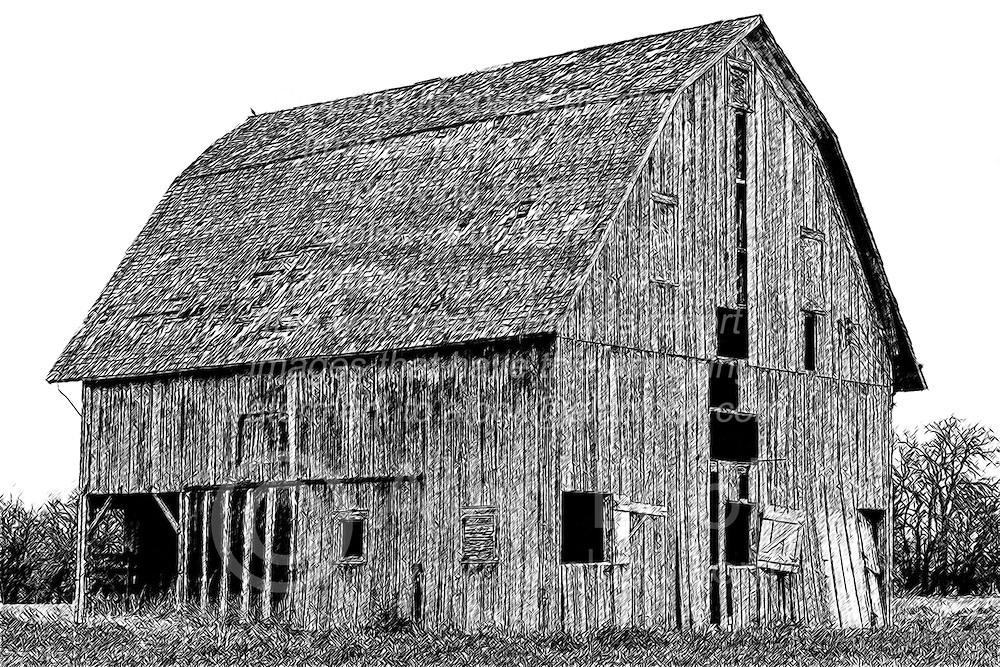 Rustic Barn in disrepair