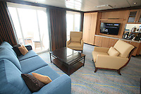 The launch of Royal Caribbean International's Oasis of the Seas, the worlds largest cruise ship..Staterooms,.Royal Suite