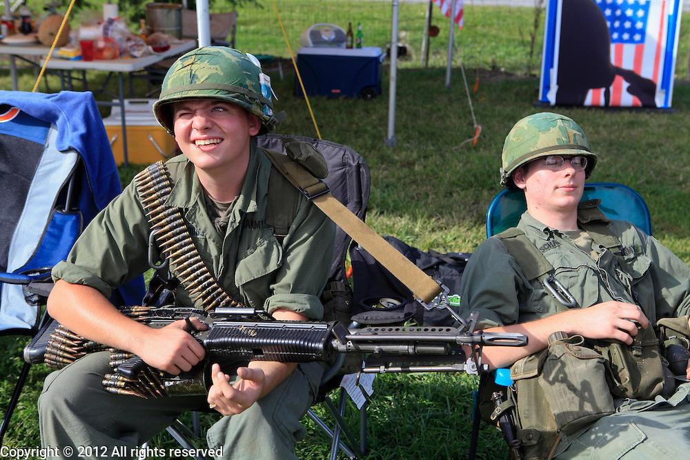 Kokomo Indiana Vietnam Veterans Reunion 201227th Wolfhound, 25th Infantry Division reenactors