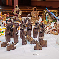 A Christmas Nativity Crib from Kenya, one of the many on display from all over the world, in the Liscannor Church