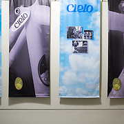 Banners line the hallways of Chris King Precision Components in Portland Oregon.