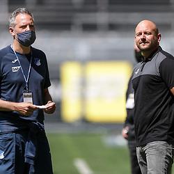 Links der Pressesprecher TSG Hoffenheim, Holger Kliem und Alexander Rosen, Direktor Profifussball ; 1. Fussball-Bundesliga; Borussia Dortmund - TSG Hoffenheim am 27.06.2020 im Signal-Iduna-Park in Dormund (Nordrhein-Westfalen). <br /> <br /> FOTO: BEAUTIFUL SPORTS/WUNDERL/POOL/PIX-Sportfotos<br /> <br /> DFL REGULATIONS PROHIBIT ANY USE OF PHOTOGRAPHS AS IMAGE SEQUENCES AND/OR QUASI-VIDEO. <br /> <br /> EDITORIAL USE OLNY.<br /> National and<br /> international NewsAgencies OUT.<br /> <br /> <br /> <br /> Foto © PIX-Sportfotos *** Foto ist honorarpflichtig! *** Auf Anfrage in hoeherer Qualitaet/Aufloesung. Belegexemplar erbeten. Veroeffentlichung ausschliesslich fuer journalistisch-publizistische Zwecke. For editorial use only. DFL regulations prohibit any use of photographs as image sequences and/or quasi-video.