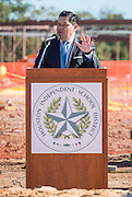 Houston ISD Superintendent Richard Carranza comments during a groundbreaking ceremony for the new Energy Institute High School, November 19, 2016.