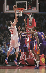 November 28, 2018 - Los Angeles, California, U.S - Boban Marjanovic #51 of the Los Angeles Clippers goes for a dunk during their NBA game with the Phoenix Suns on Wednesday November 28, 2018 at the Staples Center in Los Angeles, California. Clippers vs Suns. (Credit Image: © Prensa Internacional via ZUMA Wire)