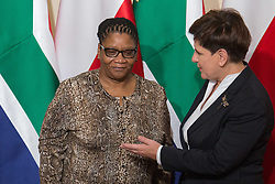 September 23, 2016 - Warsaw, Poland - Chairperson of the National Council of Provinces of South Africa, Thandi Modise (L) meet with Prime Minister of Poland, Beata Szydlo (R) in Warsaw, Poland on 23 September 2016  (Credit Image: © Mateusz Wlodarczyk/NurPhoto via ZUMA Press)