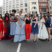Milanda photoshoot is latest collection at Fashion Scout - SS19 at London Fashion Week - Day 2, London, UK. 15 September 2018.
