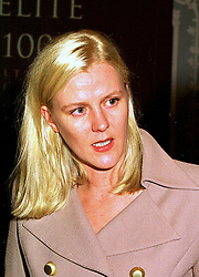 MISS IMOGEN BREWER, a former friend of Lord George Bingham son of the missing Lord Lucan,  at a party in London 19th October 1998.  MKX 36