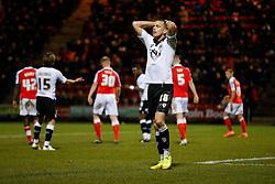 Aaron Wilbraham of Bristol City looks dejected - Photo mandatory by-line: Rogan Thomson/JMP - 07966 386802 - 20/12/2014 - SPORT - FOOTBALL - Crewe, England - Alexandra Stadium - Crewe Alexandra v Bristol City - Sky Bet League 1.