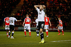 Aaron Wilbraham of Bristol City looks dejected - Photo mandatory by-line: Rogan Thomson/JMP - 07966 386802 - 20/12/2014 - SPORT - FOOTBALL - Crewe, England - Alexandra Stadium - Crewe Alexandra v Bristol City - Sky Bet League 1.