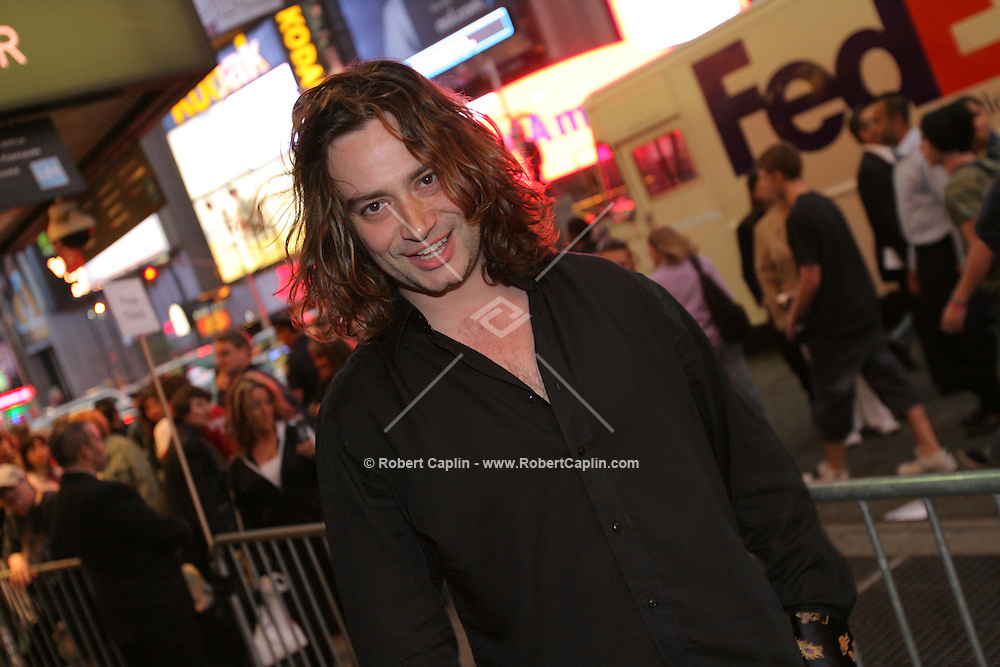 """Constantine Maroulis attends the opening of the Broadway play """"Lestat"""" at the Palace Theatre in Manhattan, Tuesday, April 25, 2006."""