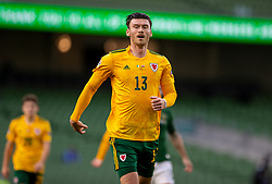 DUBLIN, REPUBLIC OF IRELAND - Sunday, October 11, 2020: Wales' Kieffer Moore during the UEFA Nations League Group Stage League B Group 4 match between Republic of Ireland and Wales at the Aviva Stadium. The game ended in a 0-0 draw. (Pic by David Rawcliffe/Propaganda)