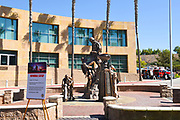 The Tribute Memorial Statue at the Orange County Fire Authority Headquarters