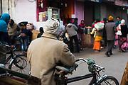 Man with bicycle. Varanasi, India