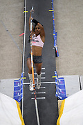 Megan Clark ties for third in the elite women's pole vault at 14-5 1/4 (4.40m) during the National Pole Vault Summit, Friday, Jan. 17, 2020, in Reno, Nev. Clark is the daughter of United States Army major general Ronald Clark aka Ronald P. Clark.