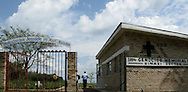 The 1994 Genocide memorial for the Kinazi Sector in southern Rwanda. Hundreds of genocide memorials are set up across the nation with a national one in Kigali.