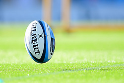 Gallagher Premiership Match Ball prior to kick off - Mandatory by-line: Ryan Hiscott/JMP - 10/10/2020 - RUGBY - Sandy Park - Exeter, England - Exeter Chiefs v Bath Rugby - Gallagher Premiership Rugby Semi-Final