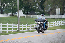 On Historic Route 66 during Motorcycle Cannonball Race of the Century. Stage-7 from Springfield, MO to Wichita, KS. USA. Friday September 16, 2016. Photography ©2016 Michael Lichter.