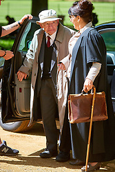 © Licensed to London News Pictures.  FILE PICTURE. 19/05/2015. OXFORD, UK.   Inspector Morse author COLIN DEXTER arriving on the set of ITV drama Endeavour in Oxford. He has died at the age of 86. Photo credit: Cliff Hide/LNP