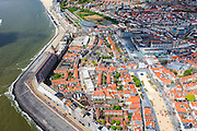 Nederland, Zeeland, Walcheren, 09-05-2013; Vlissingen, boulevard en Westerschelde. Binnenstad.<br /> Flushing, esplanade and Western Scheldt.<br /> luchtfoto (toeslag op standard tarieven)<br /> aerial photo (additional fee required)<br /> copyright foto/photo Siebe Swart