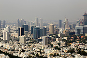 Tel Aviv, Israel Skyline as seen from north