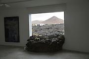 Window lava flow Fundación César Manrique, Taro de Tahíche, Lanzarote, Canary islands, Spain