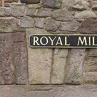 Royal Mile sign on the Edinburgh Old Town