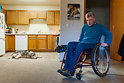 Philip Nick Arnold and Sempi, siberian husky, 3 hours before the service dog's passing at age 14
