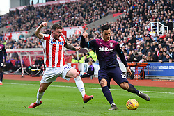 February 23, 2019 - Stoke On Trent, England, United Kingdom - Tom Edwards (30) of Stoke City attempts to block a cross by Anwar El Ghazi (22) of Aston Villa during the Sky Bet Championship match between Stoke City and Aston Villa at the Britannia Stadium, Stoke-on-Trent on Saturday 23rd February 2019. (Credit Image: © Mi News/NurPhoto via ZUMA Press)