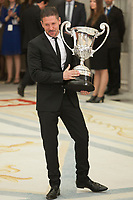 Diego Pablo Simeone receives an award from King Felipe of Spain during the 2013 Sports National Awards ceremony at El Pardo palace in Madrid, Spain. December 03, 2014. (ALTERPHOTOS/Victor Blanco)