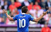 """Antonio CASSANO (Italia)<br /> Poznan 14/06/2012  """"""""Stadion Miejski""""<br /> Football calcio Europeo 2012 Italia Vs Croazia <br /> Football Calcio Euro 2012<br /> Foto Insidefoto Alessandro Sabattini"""