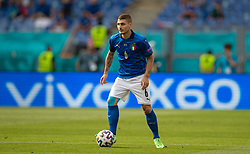 ROME, ITALY - Sunday, June 20, 2021: Italy's Marco Verratti during the UEFA Euro 2020 Group A match between Italy and Wales at the Stadio Olimpico. Italy won 1-0 to win the group, Wales finished 2nd. Both teams qualified for the knock-out round. (Photo by David Rawcliffe/Propaganda)