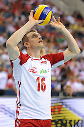 Lukasz Wisniewski of Poland during the CEV Volleyball European Championship game Poland - Slovenia on August 30, 2017 in Krakow, Poland. (Photo by Krzysztof Porebski / Press Focus)