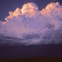 Summer Thunderheads tower over California's White Mountains and Owens Valley, near Bishop.
