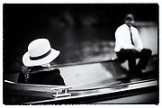 Henley on Thames, United Kingdom. 2016 Henley Masters' Regatta. Henley Reach. England. on Saturday  09/07/2016    [Mandatory Credit/ © Peter SPURRIER]<br /> <br /> Hats at Henley. Umpire's straw hat, waiting in  the marshalling area Rowing, Henley Reach, Henley Masters' Regatta.<br /> <br /> General View,  Henley Reach, venue, for the 2016 Henley Masters Regatta.<br /> <br /> NIKON CORPORATION  NIKON D810  f1.4  1/3200sec  85mm  18.8MB