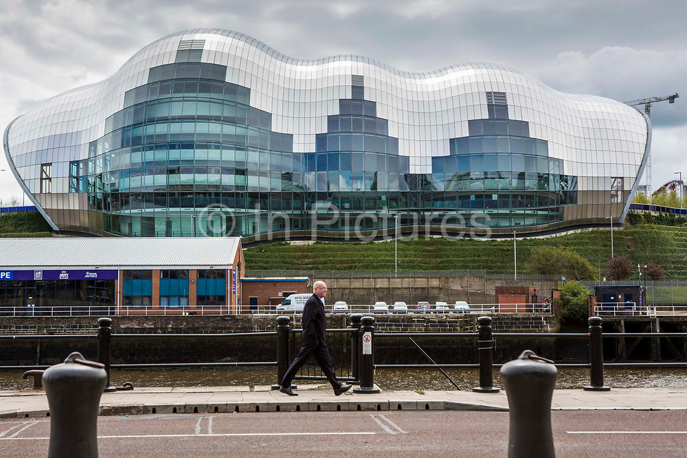 The Sage, Gateshead. A centre for musical education and perfomance. Located on the banks of the river Tyne. Newcastle, UK.