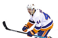 TORONTO, ONTARIO - AUGUST 26:  Jean-Gabriel Pageau #44 of the New York Islanders celebrates after scoring the game-tying goal against the Philadelphia Flyers during the third period in Game Two of the Eastern Conference Second Round during the 2020 NHL Stanley Cup Playoffs at Scotiabank Arena on August 26, 2020 in Toronto, Ontario. (Photo by Elsa/Getty Images)