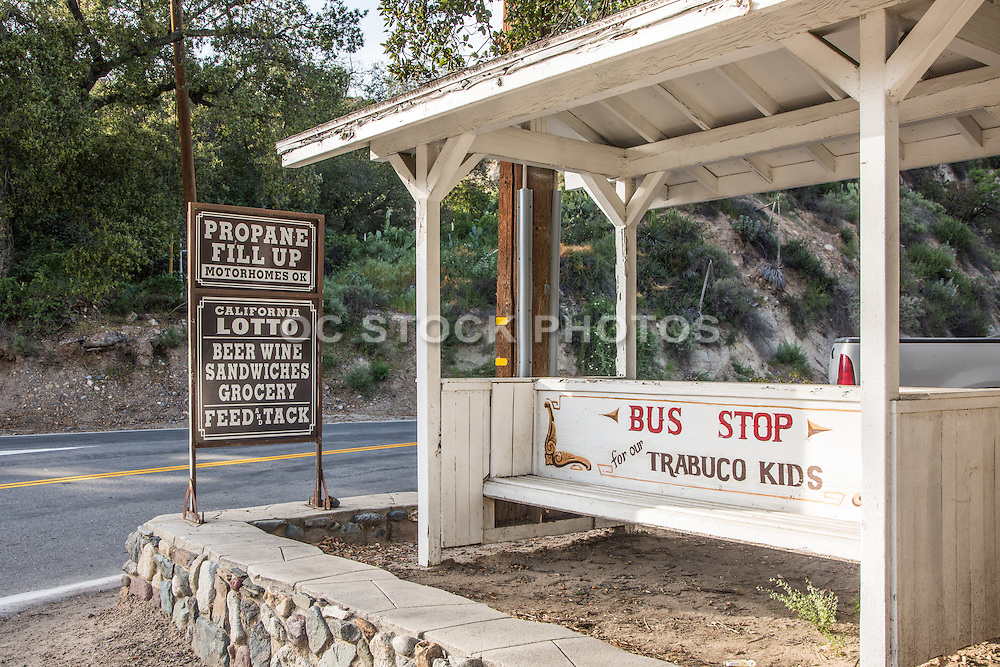 Bus Stop in Trabuco Canyon