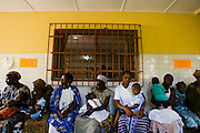 Patients wait to receive medical attention at the NDA health center in Dimbokro, Cote d'Ivoire on Friday June 19, 2009.