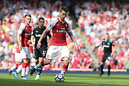 Arsenal defender Laurent Koscielny (6) during the Premier League match between Arsenal and West Ham United at the Emirates Stadium, London, England on 22 April 2018. Picture by Bennett Dean.