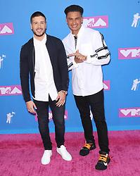 August 21, 2018 - New York City, New York, USA - 8/20/18.Vinny Guadagnino and Pauly D at the 2018 MTV Video Music Awards at Radio City Music Hall in New York City. (Credit Image: © Starmax/Newscom via ZUMA Press)