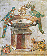 Roman mosaic of drinking birds from Santa Maria Capua Vetere, ancient Capua, inv no 9992, Naples Archaeological Musum, Italy.  Wall art print by Photographer Paul E Williams If you prefer visit our World Gallery Print Shop To buy a selection of our prints and framed prints desptached  with a 30-day money-back guarantee and is dispatched from 16 high quality photo art printers based around the world. ( not all photos in this archive are available in this shop) https://funkystock.photoshelter.com/p/world-print-gallery .<br /> <br /> USEFUL LINKS:<br /> Visit our other HISTORIC AND ANCIENT ART COLLECTIONS for more photos to buy as wall art prints  https://funkystock.photoshelter.com/gallery-collection/Ancient-Historic-Art-Photo-Wall-Art-Prints-by-Photographer-Paul-E-Williams/C00002uapXzaCx7Y