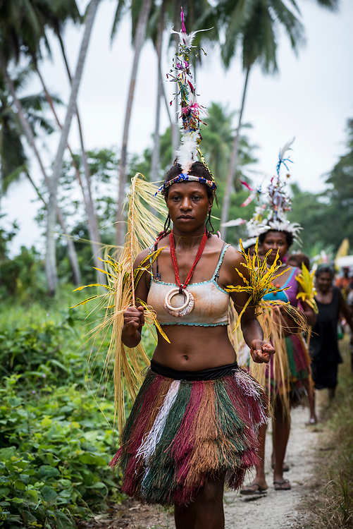 Mbore women are dressed to celebrate the Mborena Kam New Testament dedication on July 26, 2017, in Madang Province, Papua New Guinea. The work to translate the New Testament into this language, one of more than 800 in Papua New Guinea, took over 30 years.