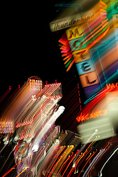 """""""Thunderbird Motel, Reno""""  This sign was photographed in Downtown Reno, Nevada. The effect was obtained in camera by long exposure mixed with intentional camera movement."""