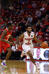 26 November 2016:  Keyshawn Evans(3) rushes past Mory Diane during an NCAA  mens basketball game between the Ferris State Bulldogs the Illinois State Redbirds in a non-conference game at Redbird Arena, Normal IL