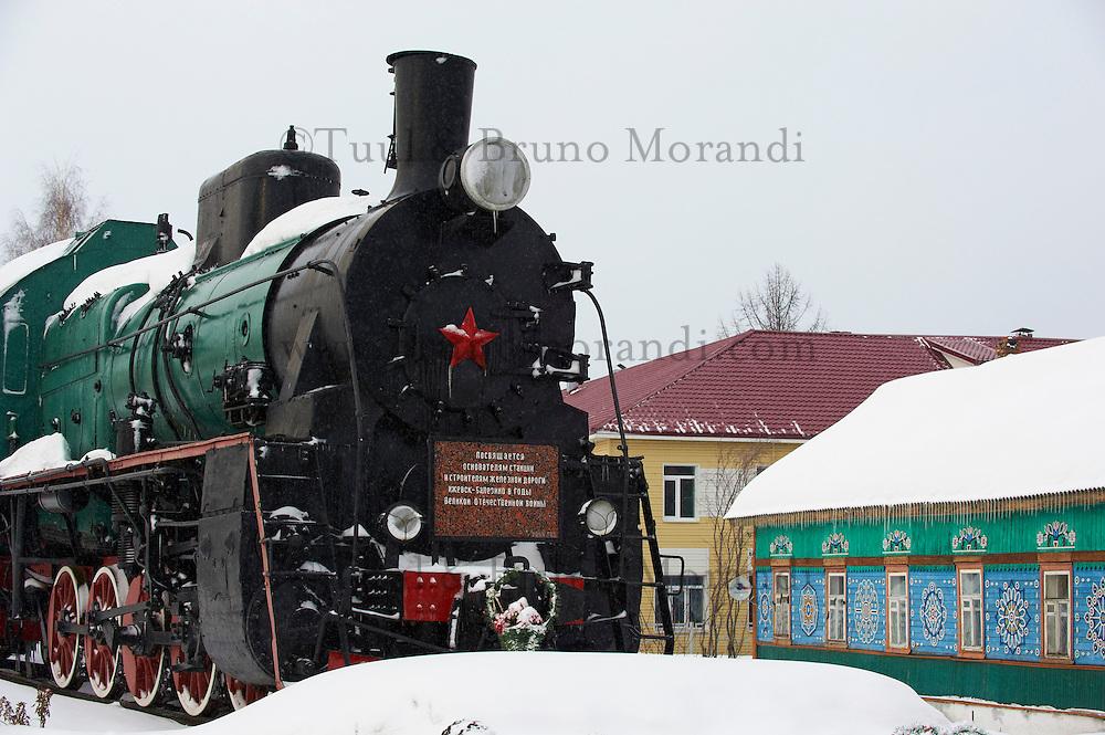 Russie, Oudmourtie, Balezino, 23 minutes d'arret, gare ferroviaire, Station du transsiberien. // Russia, Udmurtia, Balezino, 23 minutes stop, railway station, Trans-Siberian line.