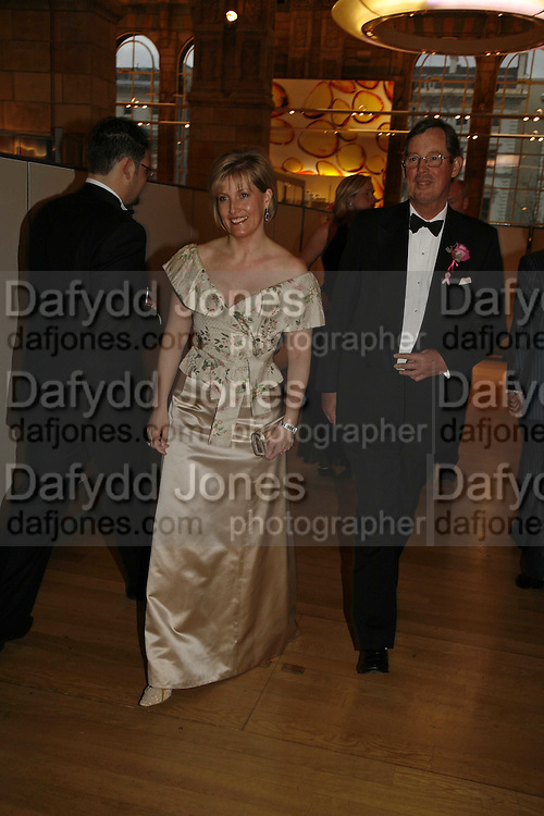 HRH The Countess of Wessex, Paul Arengo-Turner. The Blush Ball, Natural History Museum, London<br />Breast Cancer Haven trust charity evening for the construction of a third Haven in North England. ONE TIME USE ONLY - DO NOT ARCHIVE  © Copyright Photograph by Dafydd Jones 66 Stockwell Park Rd. London SW9 0DA Tel 020 7733 0108 www.dafjones.com
